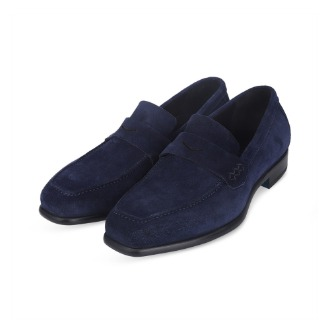 L200 Via Roma Suade loafer - Navy