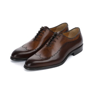 T688 Brogue Oxford Shoe - Dark Brown
